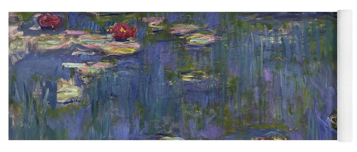 Monet Yoga Mat featuring the painting Water Lilies, 1916 by Claude Monet
