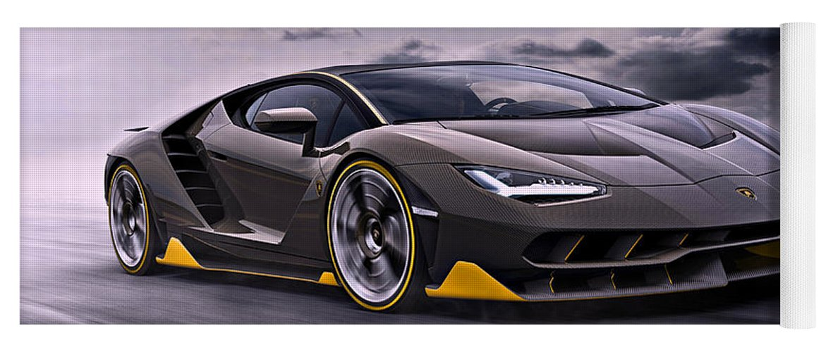 2017 Lamborghini Centenario Yoga Mat For Sale By Movie Poster Prints