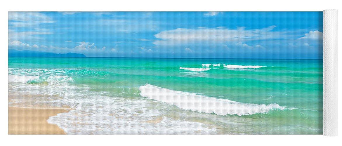 Beach Yoga Mat featuring the photograph Beach by MotHaiBaPhoto Prints