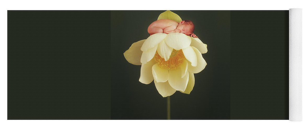 Water Lily Yoga Mat featuring the photograph Lotus Bud by Anne Geddes