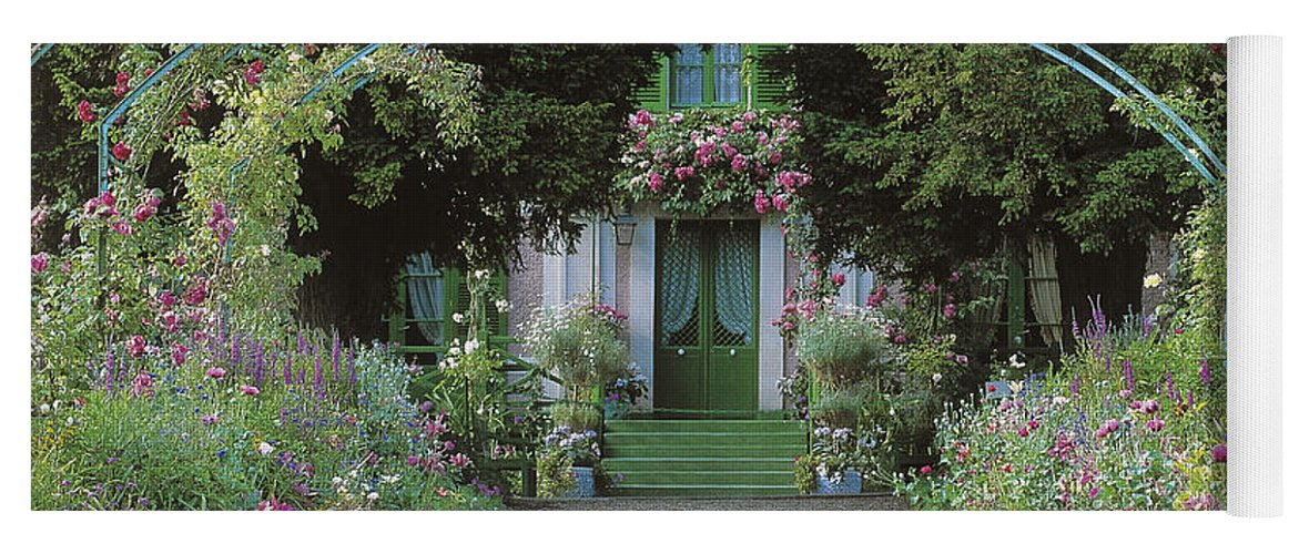 Giverny Yoga Mat featuring the photograph Claude Monet's Garden At Giverny by French School