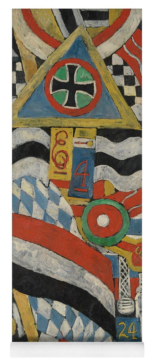 American Art Yoga Mat featuring the painting Portrait Of A German Officer by Marsden Hartley