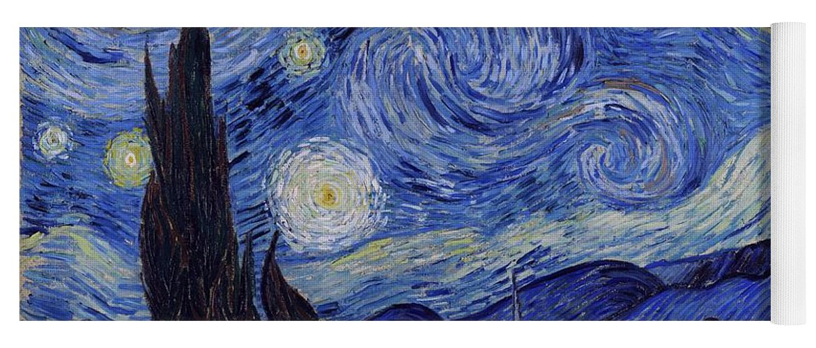 Van Gogh Yoga Mat featuring the painting Starry Night by Van Gogh