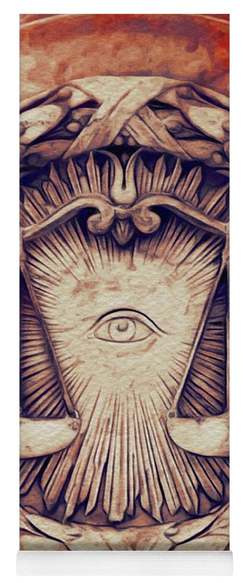 All-seeing Yoga Mat featuring the painting The All-seeing Eye by Pierre Blanchard