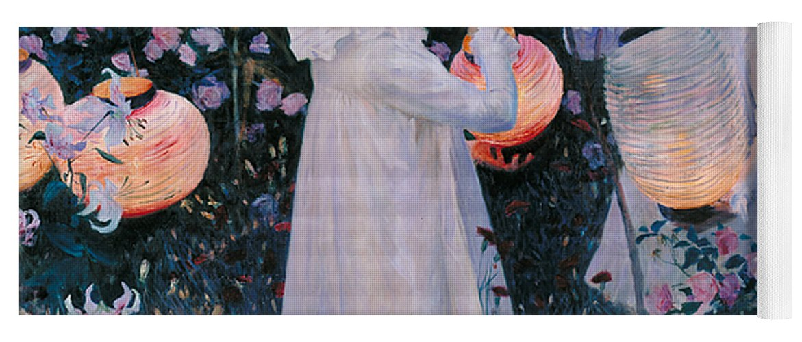 Sargent Yoga Mat featuring the painting Carnation Lily Lily Rose by John Singer Sargent