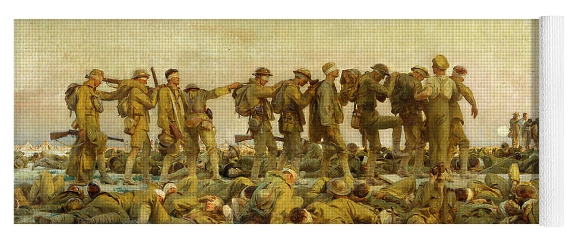 Sargent Yoga Mat featuring the painting Gassed by John Singer Sargent