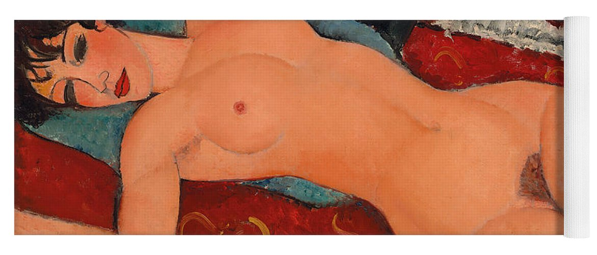 Modigliani Yoga Mat featuring the painting Reclining Nude by Amedeo Modigliani