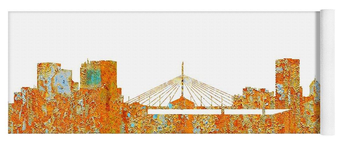 Winnipeg Man.skyline Yoga Mat featuring the digital art Winnipeg Man.skyline by Marlene Watson