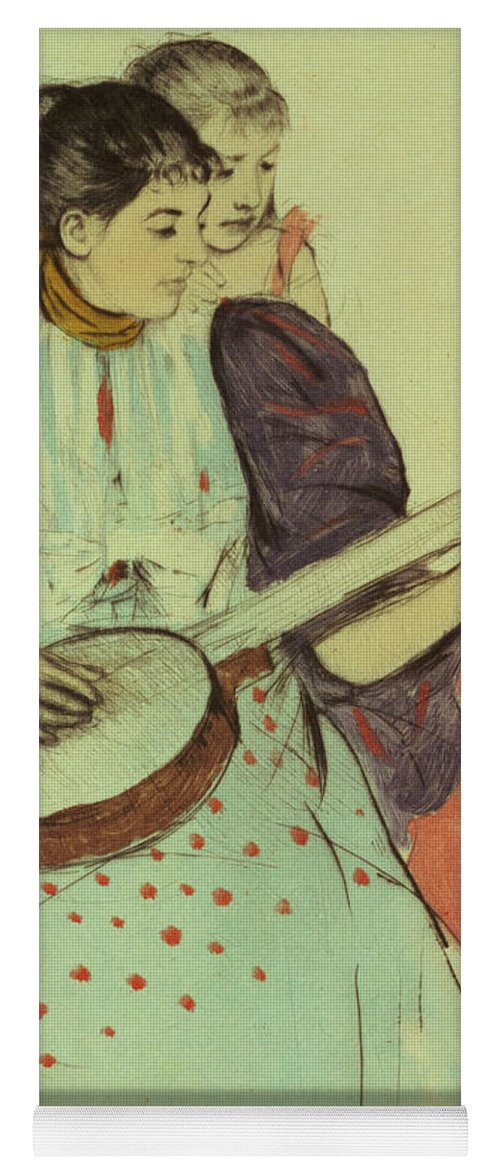 Banjo Yoga Mat featuring the painting Mother And Child by Mary Stevenson Cassatt