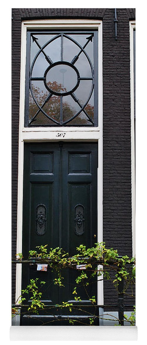 Amsterdam Yoga Mat featuring the photograph 507 Doors Of Amsterdam Green by Jost Houk