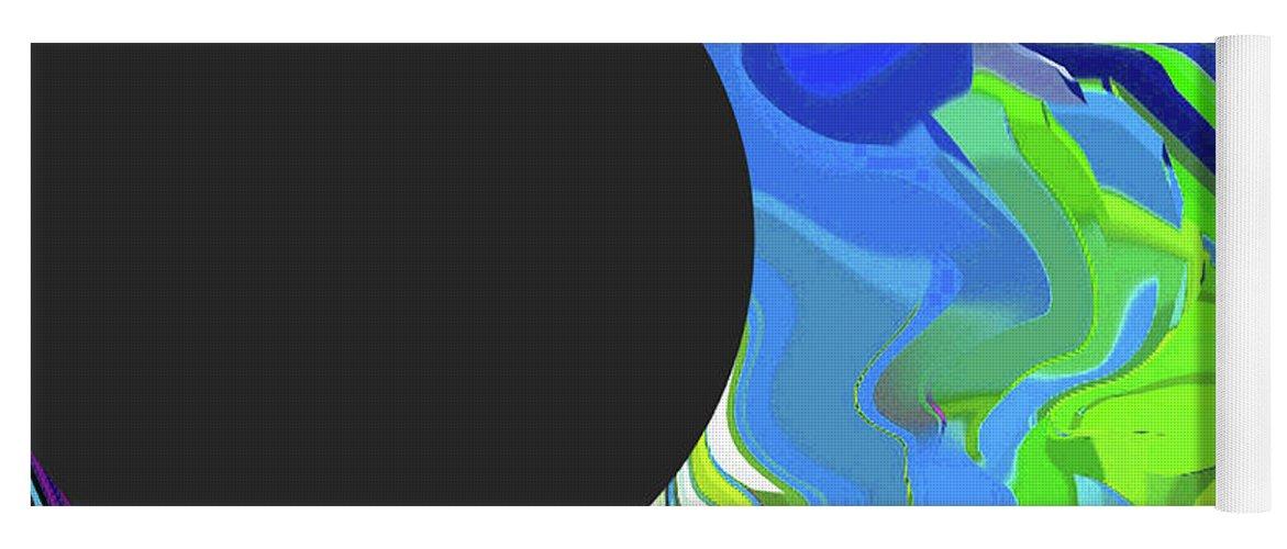 Walter Paul Bebirian Yoga Mat featuring the digital art 6-11-2015gabcdefghijklmnopqrtuvwxyzabcd by Walter Paul Bebirian