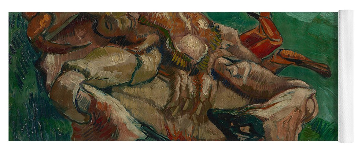 Vincent Van Gogh Yoga Mat featuring the painting A Crab On Its Back by Vincent van Gogh