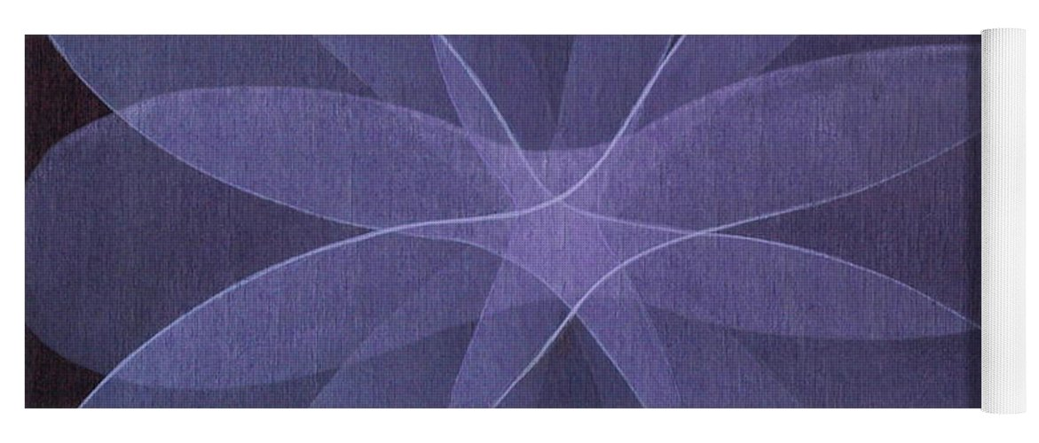 Abstract Yoga Mat featuring the painting Abstract flower by Jitka Anlaufova