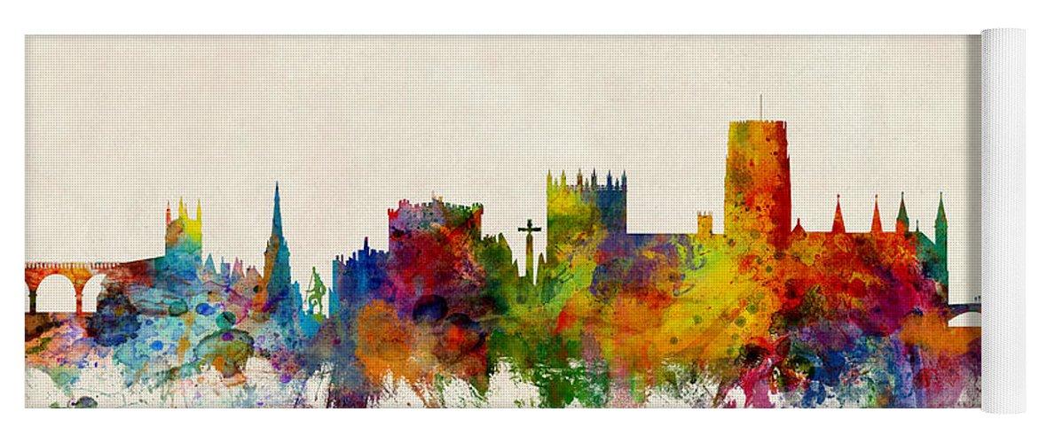 Durham England Skyline Cityscape Yoga Mat For Sale By Michael Tompsett