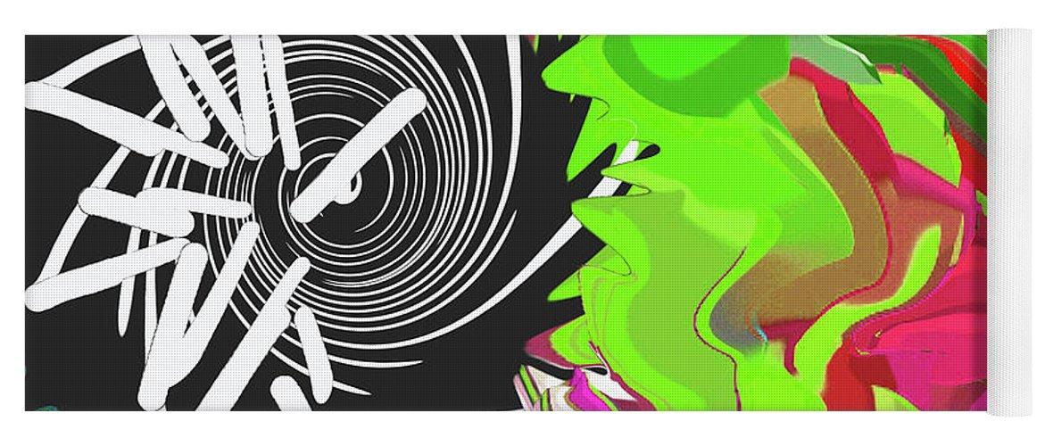 Walter Paul Bebirian Yoga Mat featuring the digital art 8-11-2015c by Walter Paul Bebirian