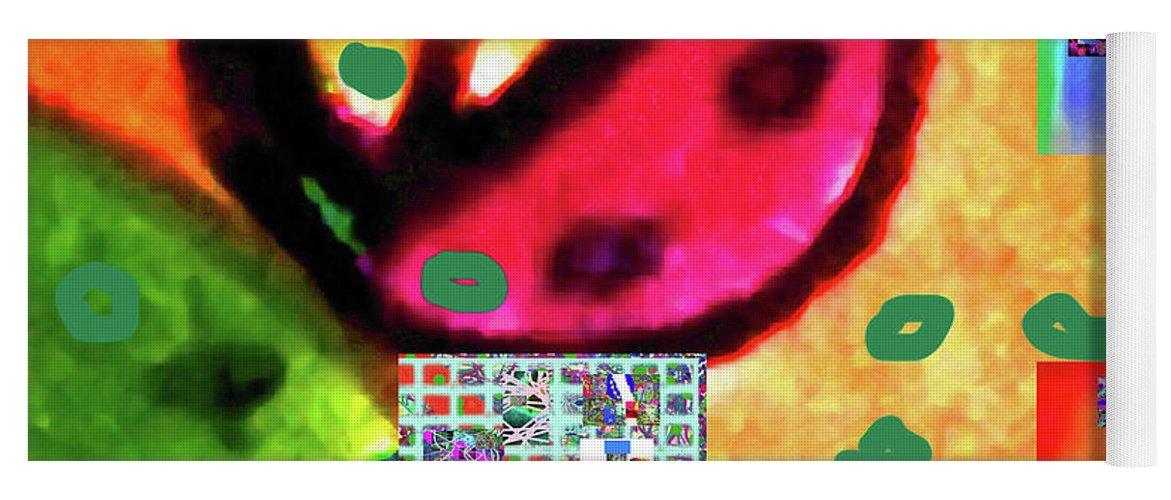 Walter Paul Bebirian Yoga Mat featuring the digital art 8-3-2015cabcdefghijklmnopqrtuvwxyzabcdef by Walter Paul Bebirian