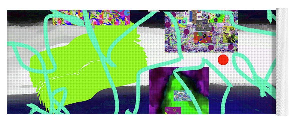 Walter Paul Bebirian Yoga Mat featuring the digital art 9-18-2015babcdefghijklmnopqrtuvwx by Walter Paul Bebirian