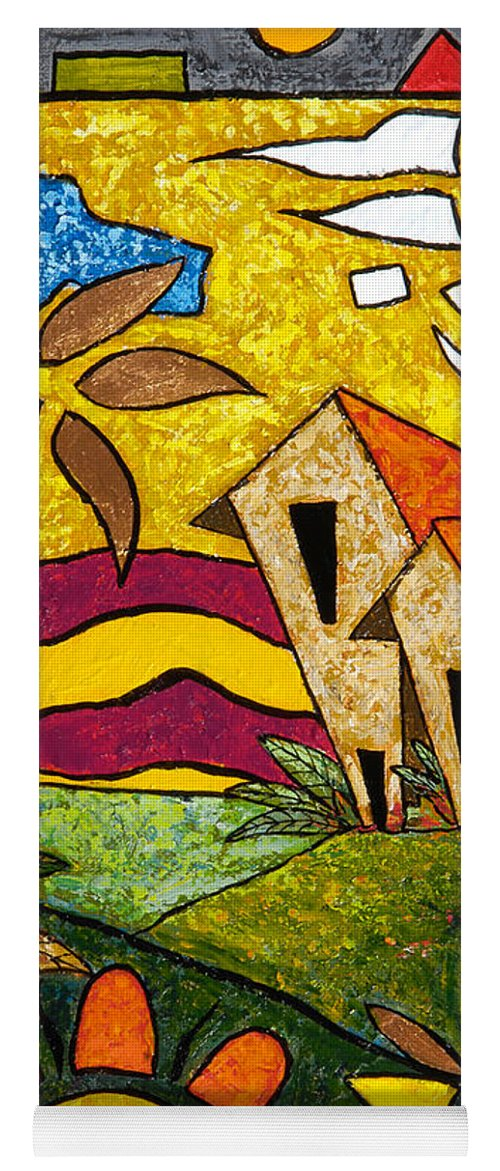 Puerto Rico Yoga Mat featuring the painting A Beautiful Day by Oscar Ortiz