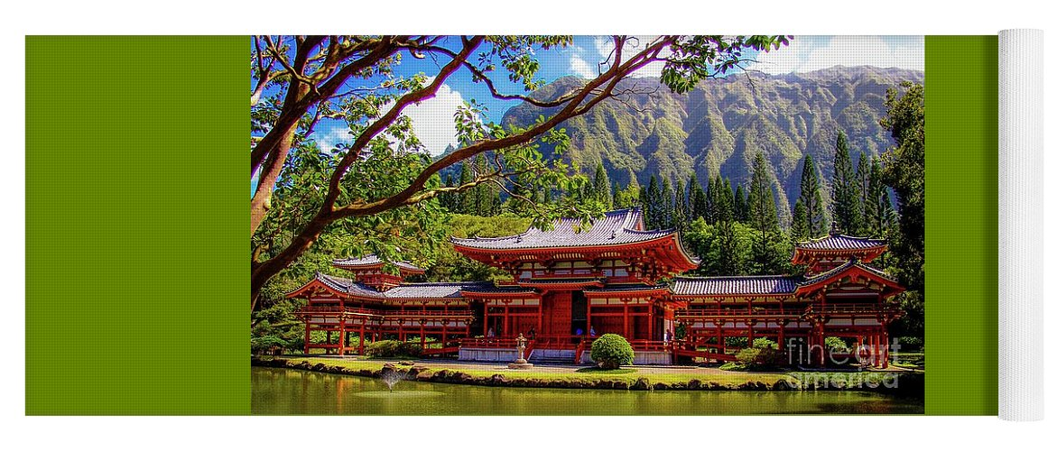 Buddhist Yoga Mat featuring the photograph Buddhist Temple - Oahu, Hawaii - by D Davila