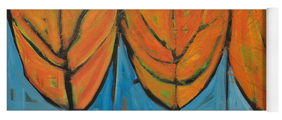 Fall Yoga Mat featuring the painting A Change Of Seasons by Tim Nyberg