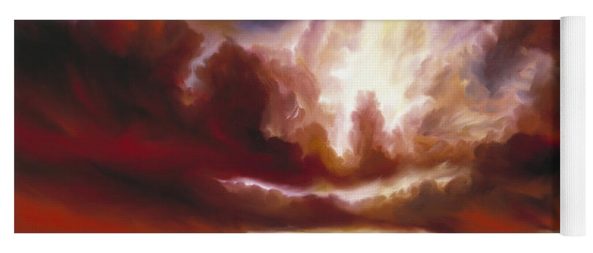 Tempest Yoga Mat featuring the painting A Cosmic Storm - Genesis V by James Christopher Hill