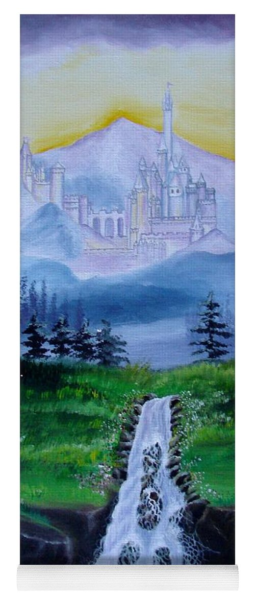 Landscape Yoga Mat featuring the painting A Fairytale by Glory Fraulein Wolfe