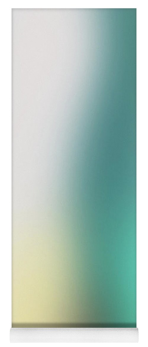 Abstract Yoga Mat featuring the mixed media A Fleeting Glimpse 2- Art By Linda Woods by Linda Woods