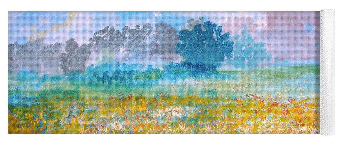 New Artist Yoga Mat featuring the painting A Golden Afternoon by J Bauer