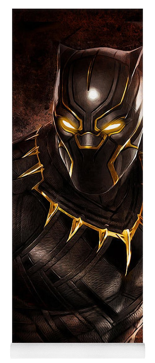 Wakanda Yoga Mat featuring the digital art A King Rises by David Clemmensen