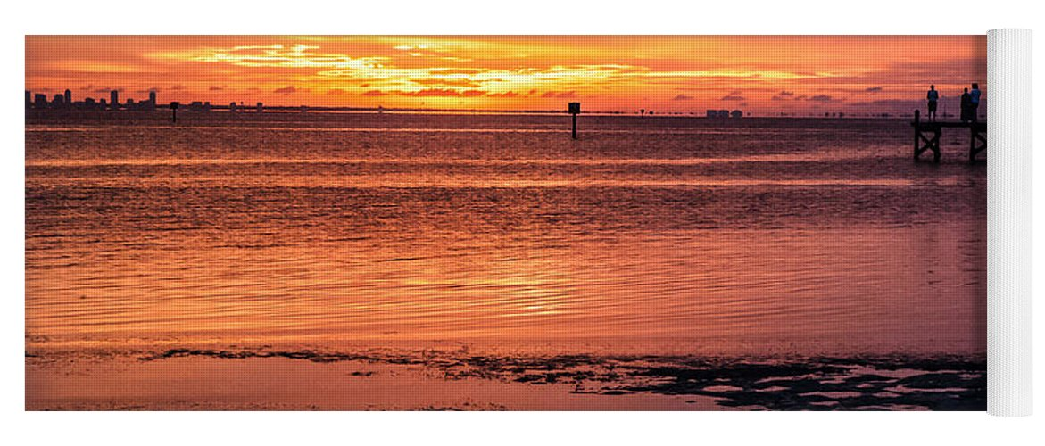 Sunset Yoga Mat featuring the photograph A Moment To Enjoy by Norman Johnson