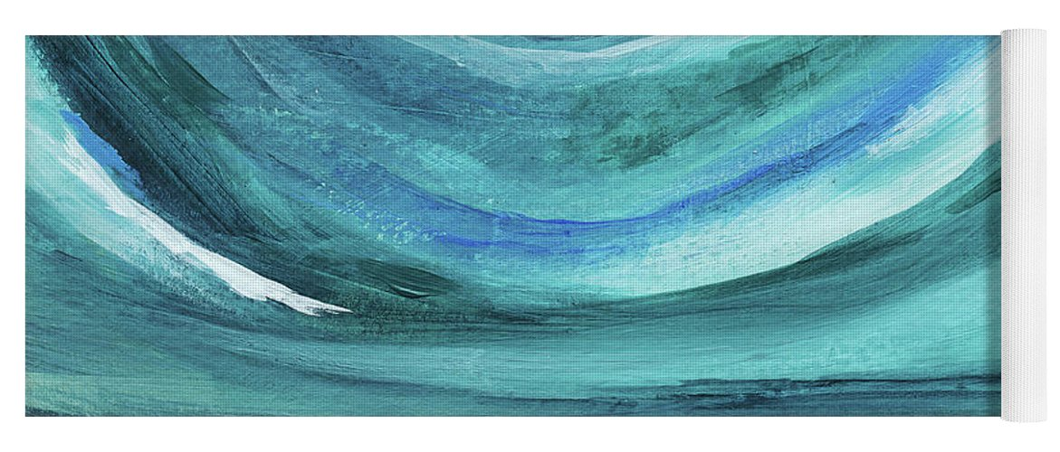 Abstract Landscape Yoga Mat featuring the painting A New Start Wide- Art By Linda Woods by Linda Woods