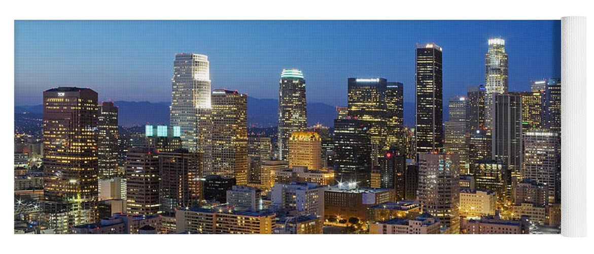 Los Angeles Yoga Mat featuring the photograph A Night In L A by Kelley King