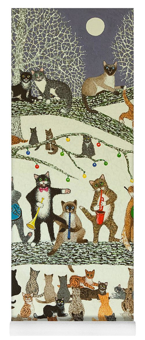 Christmas Yoga Mat featuring the painting A Resounding Success by Pat Scott