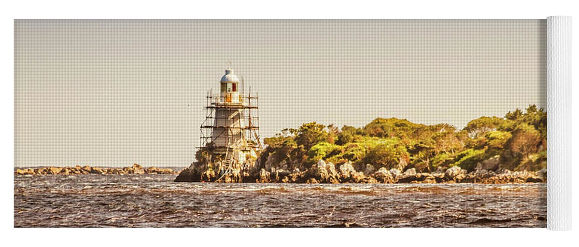 Light House Yoga Mat featuring the photograph A Seashore Construction by Jorgo Photography - Wall Art Gallery