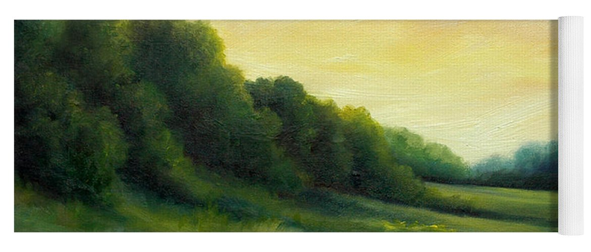 Clouds Yoga Mat featuring the painting A Spring Evening Part Two by James Christopher Hill