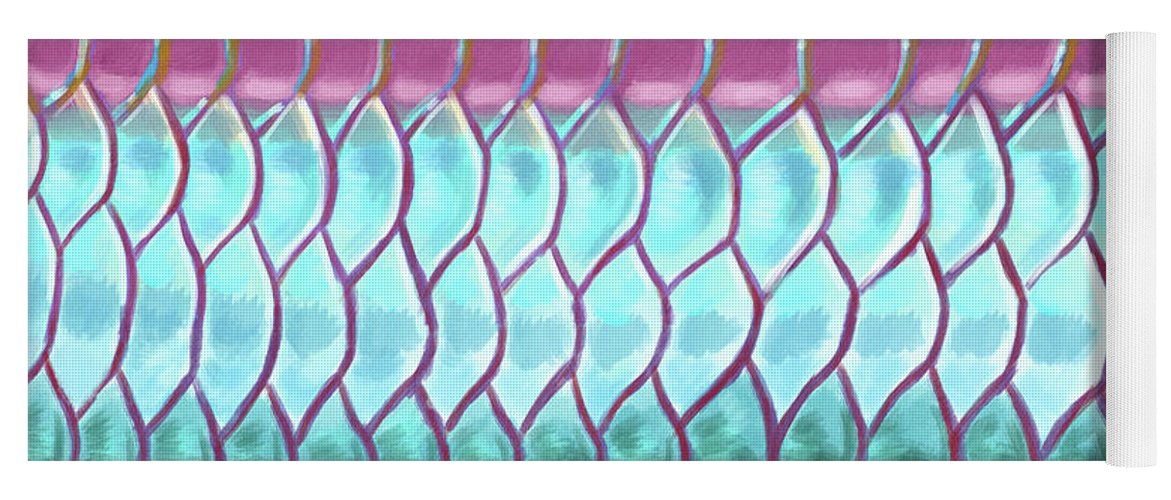 Tarpon Yoga Mat featuring the digital art A Tarpons Reflection by Kevin Putman