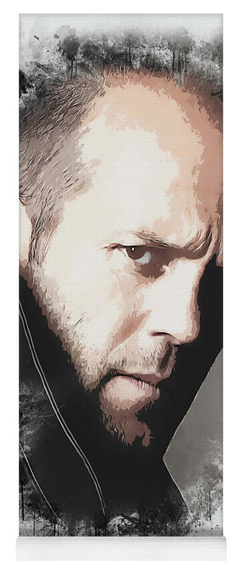 Movies Yoga Mat featuring the digital art A Tribute to JASON STATHAM by Dusan Naumovski