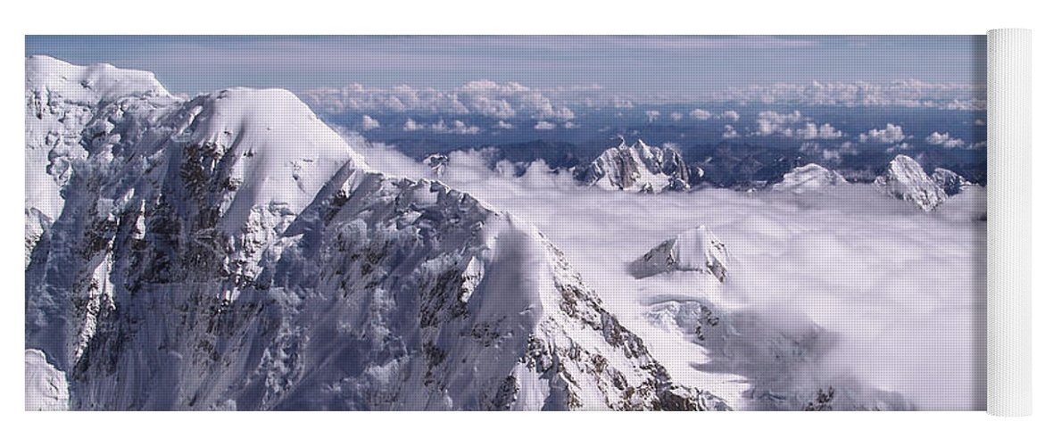 Above Denali Yoga Mat featuring the photograph Above Denali by Chad Dutson