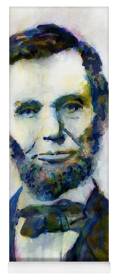 Abraham Yoga Mat featuring the painting Abraham Lincoln Portrait Study 2 by Hailey E Herrera