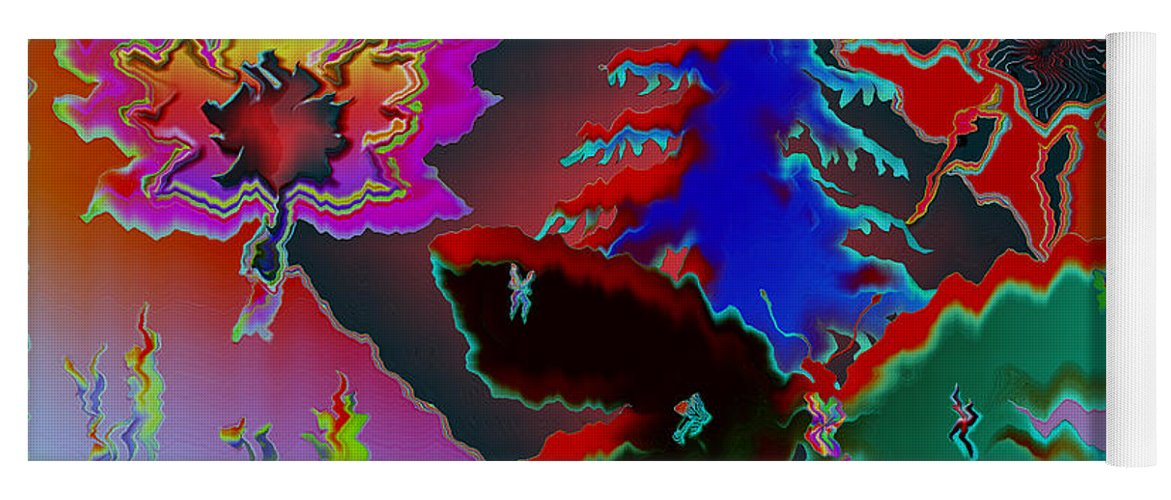 Abstract Yoga Mat featuring the photograph Absract by Donna Brown
