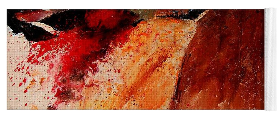 Abstract Yoga Mat featuring the painting Abstract 010607 by Pol Ledent