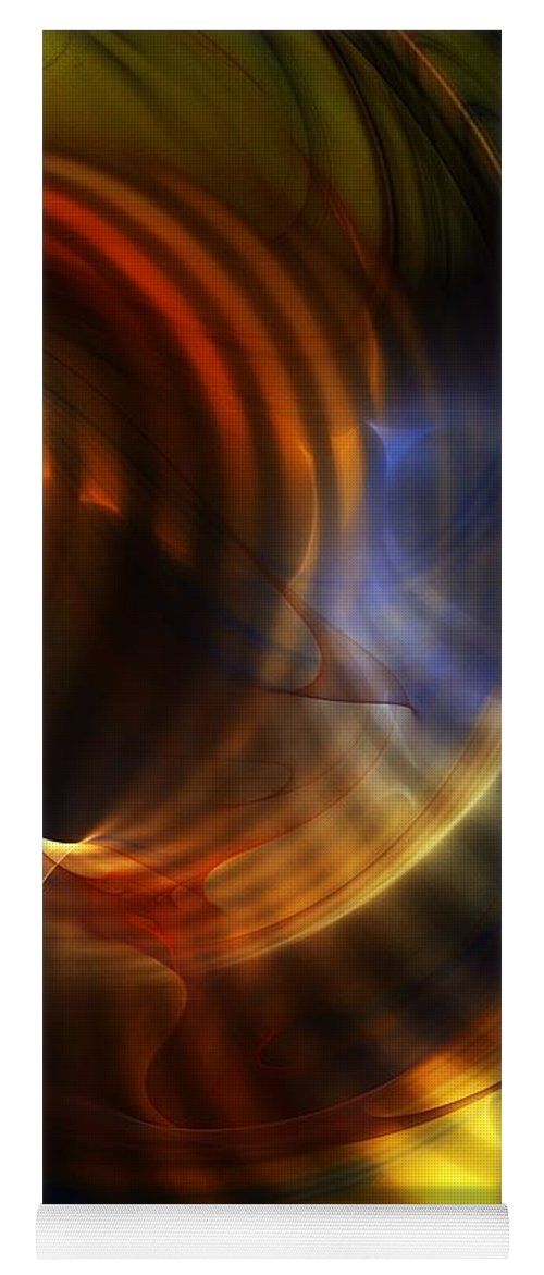 Fine Art Yoga Mat featuring the digital art Abstract 040511 by David Lane