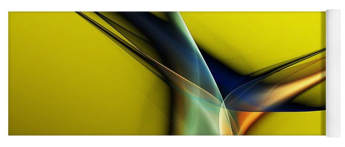 Fine Art Yoga Mat featuring the digital art Abstract 060311 by David Lane