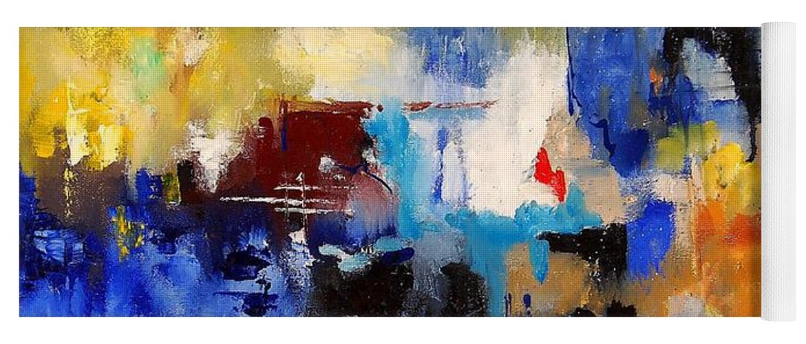 Abstract Yoga Mat featuring the painting Abstract 6791070 by Pol Ledent