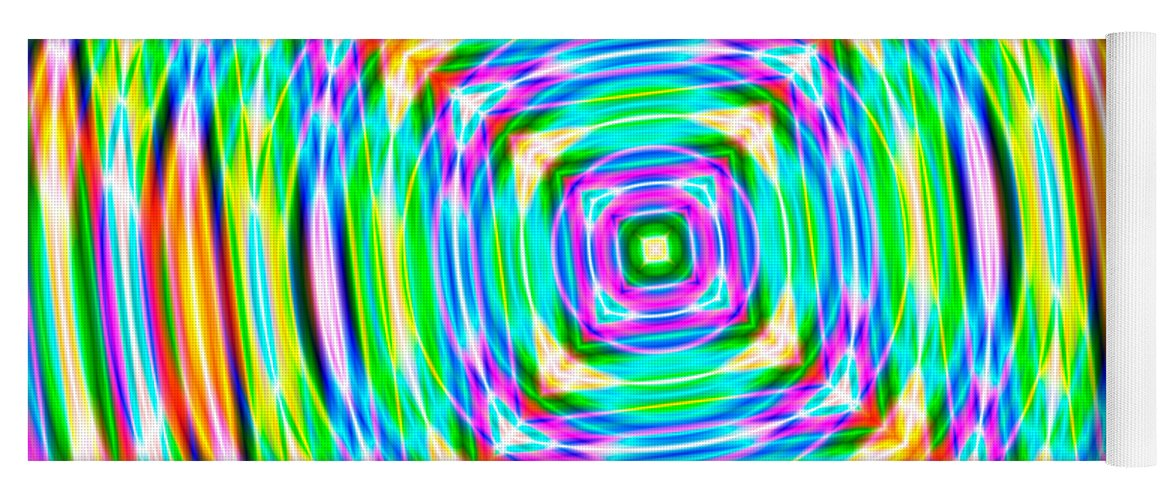 Abstract Yoga Mat featuring the digital art Abstract 709 by Rolf Bertram