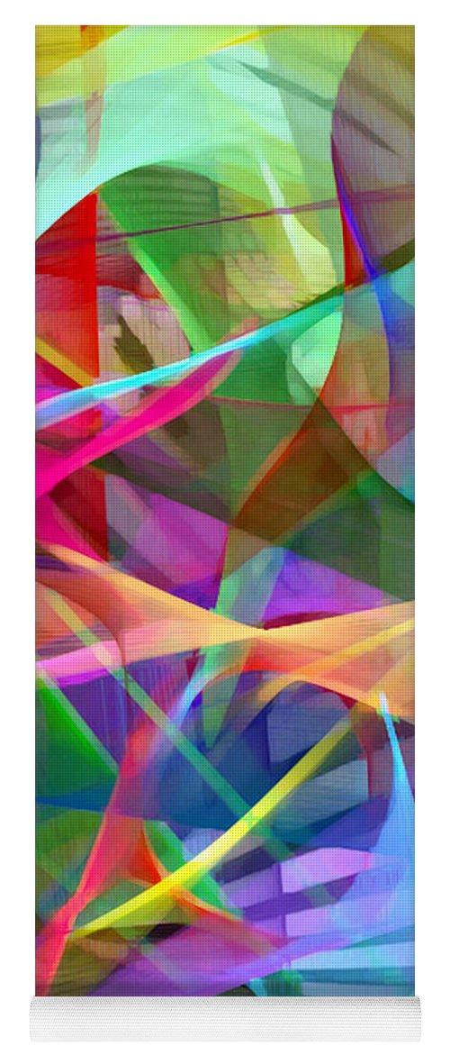 Rafael Salazar Yoga Mat featuring the digital art Abstract 9488 by Rafael Salazar