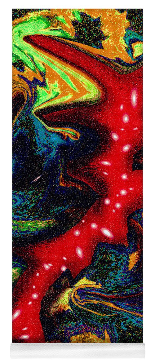 Abstract Design Yoga Mat featuring the digital art Digital Picture Abstract Bq155 by Oleg Trifonov