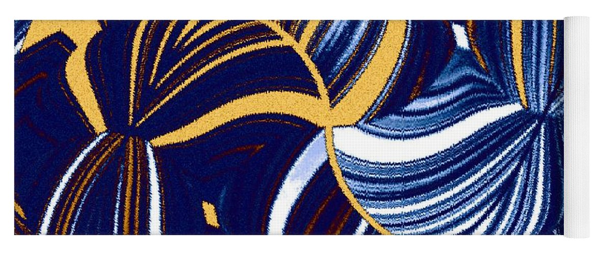 Abstract Yoga Mat featuring the digital art Abstract Fusion 279 by Will Borden