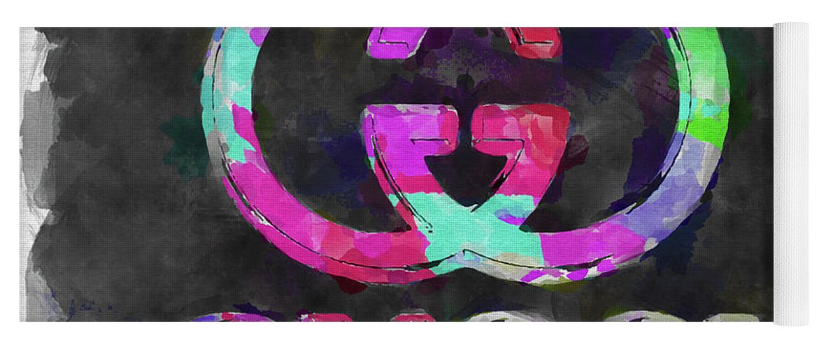 ea9ec565f Abstract Gucci Logo Watercolor Yoga Mat for Sale by Ricky Barnard