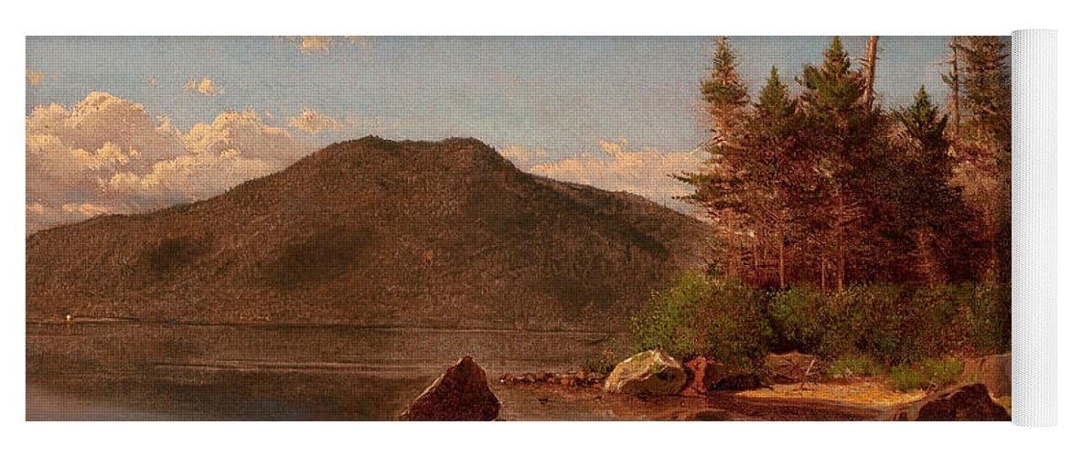 American Artist Yoga Mat featuring the painting Adirondack Lake by Alexander Helwig Wyant